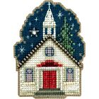 SUNDAY NIGHT CHURCH ORNAMENT MILL HILL WINTER HOLIDAY COLLECTION BEADED CROSS ST