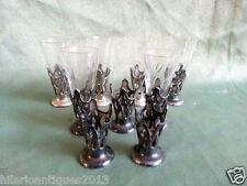 Antique Art Nouveau German wmf 1900 Set 9 Cup Holders