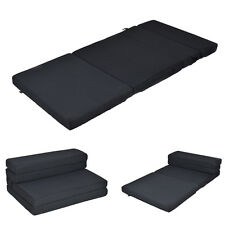 "Twin-XL Size 4"" Quart -Fold Foam Folding Mattress Futon Sleepover Sofa Bed Guest"