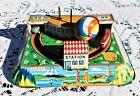 Vintage Kokyu Tin Litho Wind Up Toy International Air Terminal Tin Toy - Japan