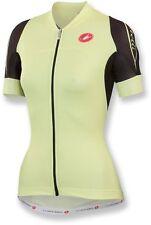 NEW Castelli Certezza Womens Bike Jersey Full-Zip Jersey, Short-Sleeve, M, Lemon