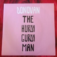"DONOVAN THE HURDY Peace and Love Red Ronnie promo 7"" 45 giri vinyl"
