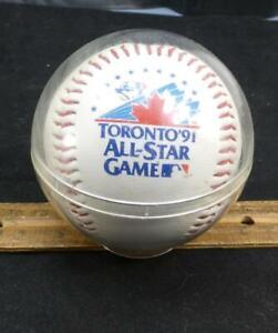 1991 Toronto All Star Original Baseball Souvenir Ball In Case MLB !