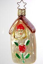 Vintage INGE-GLAS German Ornaments:  GARDEN HOUSE GNOME - Spectacular & MINT