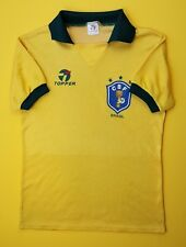 4.5/5 Brazil vintage retro jersey SMALL 1988 1991 shirt retro soccer Topper