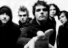 Poster For My Chemical Romance America famous punk band Art Silk Fabric 17x13