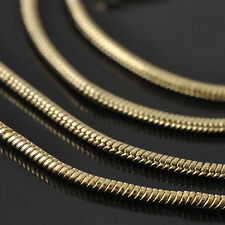 9K Gold FILLED Womens Snake Chain Necklace Fashion Necklace Jewelry 17 inches