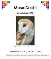 mosaicraft Pixel Basteln Mosaik Kunst Set 'Schleier Eule' pixelhobby