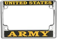 US ARMY HIGH QUALITY METAL MOTORCYCLE LICENSE PLATE FRAME - MADE IN THE USA!!