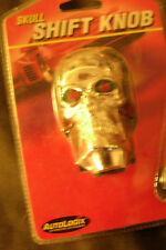 Silver human skull red eyes gear shift shifter, door lock knobs, valve caps