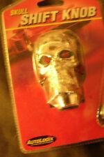 Silver human skull red eyes gear shift shifter, door lock knobs,license fastener