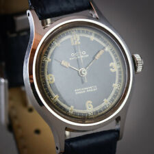 ⌚1940'S SWISS VINTAGE OCTO WW2 MILITARY STYLE ALL STAINLESS STEEL MENS WATCH 17J