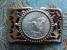 NEU Gürtelschnalle American USA große one Dollar eagle Münzen Silber Metall Western