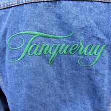 Tanqueray Gin Logo Promotions Denim Jacket Size XL Blue Trucker Style
