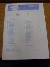 20/07/2012 Farbe Teamsheet: in Österreich: Manchester City V Besiktas [freundliche].