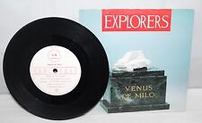 "7"" Single - Explorers - Venus De Milo- Virgin VS779 - 1985"