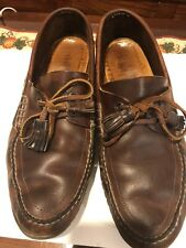 Loafers Brown Leather Loafer Shoes Laces Slip On Vibram GumLite Men's 11 D