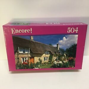 """Encore 504 Piece Puzzle """"Thatched Cottage"""" 10 3/4"""" x 18"""" 2007 New/Sealed Gift"""