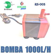 BOMBA AGUA 1000L/H RS-003 ACUARIO FUENTE ESTANQUE SUMERGIBLE HIDROPONIA PECERA
