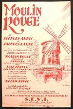 Partition Ancienne - Moulin Rouge - Eds. S.E.M.I. - 1953