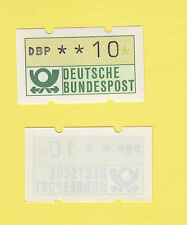 """Nagler-Bund-ATM weiße Gummierung Nr. 1.2 hv Gummi 30 ** fettes """"DBP"""""""