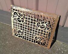 Antique Fancy Cast Iron Cold Air Register Vent Cover