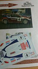 Decals 1/43 réf 743 Peugeot 206 wrc Knapick  Rallycross 2004