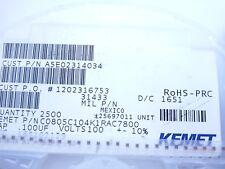 fbb26.25 x8 Condensador de varias capas de cerámica KEMET BEST 470nF .47uF 50V 10/%