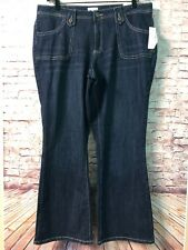 Women's Plus Jeans 22W Dark Wash Bootcut FASHION BUG NEW #F427