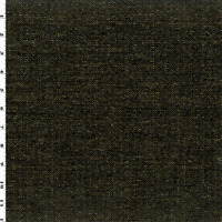 De Leo Black/Gold Chenille Sparkle Home Decorating Fabric, Fabric By The Yard