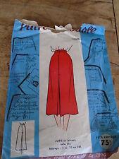 """ANCIEN PATRON PATRON MODELE """" JUPE DROITE A PLIS   """" ANNEE  1940/1950"""
