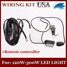 FOR LED WORK LIGHT BAR 120/240/300W REMOTE CONTROL WIRING HARNESS KIT 14VDC CORO
