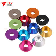 50 Pcs m3 aluminium alloy anodized color car model conical washer conical