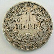 1 Mark  1905-A Germany KM# 14, J# 17, Schön# 18, AKS# 2