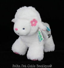 NWT Carter's Child of Mine White Pink Plush Musical Lamb Sheep Plush Baby Toy