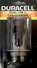 SMART Duracell USB TYPE C Fast Car Charger Adapter 2 Dual Port USB-C 5V/3.1 amp