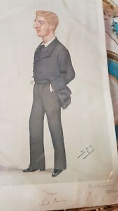 Lord Ramsay Vanity Fair Spy Pencil Signed Print Vincent Brooks Day & son 1880