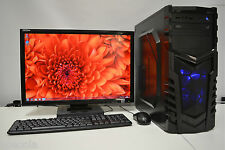 "GAMING PC SET QUAD i5 2nd Gen 8 GB DDR3 500 GB 2GB GDDR5 GT 730 22"" TFT WIN7"