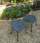 Antique French Garden Chairs, Wrought-iron, Late 19th Century, Original