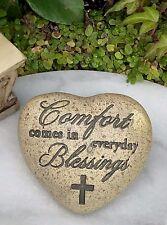 Miniature Fairy Garden Accessories ~ Heart Memorial Comfort Blessing Stone Sign