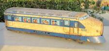 Vintage Rare Old MT Trade Mark Battery Japanese Bullet Train Litho Tin Toy Japan