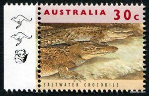 2017 30c Crocodile 11th Reprint LH Tab 1994 Kangaroo Koala SG1361 MUH Mint Stamp