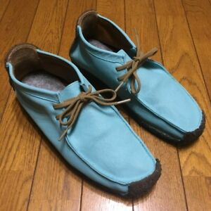 Rare color!! Clarks Natalie leather Loafers & Slip ons Tiffany blue repaint 9.5