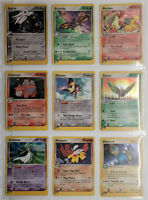 Pokemon Complete Ruby and Sapphire Set 109/109, nm/mint psa ready, some swirls