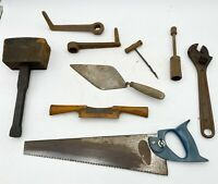 Job Lot of Collectable Vintage Hand Tools - Wrench, Crank Handles, Plane etc <F5