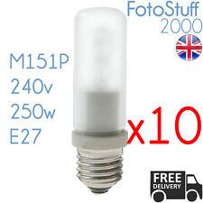 10x 250w ES Modelling Bulb Bowens Elinchrom Interfit 240v E27 64480 M151P