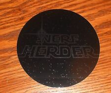"Nerf Herder Sticker Circle Decal Promo 4"" RARE Star Wars (mirrored)"