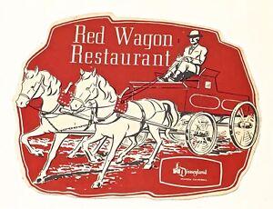 1960's Red Wagon Restaurant Children's Menu Disneyland