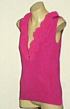 GITANE ShockingPinkSleevelessFrontZipFrilledVneck SizeS as NEW