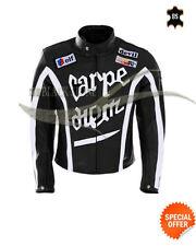 Blousons noir taille en cuir pour motocyclette taille XL